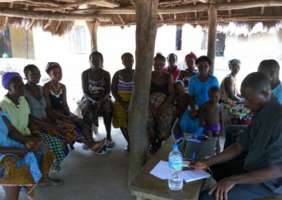 A focuss group discussion with women (25-49) at Mamasoka village sierra leone (1)